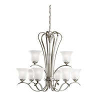 Kichler Lighting Wedgeport 9 Light Fluorescent Chandelier in Brushed Nickel 10741NI