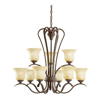Kichler 10741OZ Wedgeport 9 Light 32 inch Olde Bronze Fluorescent Chandelier Ceiling Light
