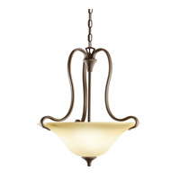 Kichler 10742OZ Wedgeport 2 Light 19 inch Olde Bronze Fluorescent Pendant Ceiling Light photo thumbnail