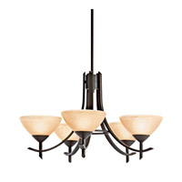 Kichler Lighting Olympia 5 Light Fluorescent Chandelier in Olde Bronze 10776OZ thumb