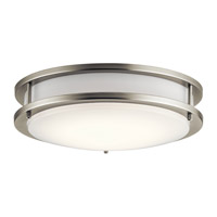 Kichler 10784NILED Independence LED 12 inch Brushed Nickel Flush Mount Light Ceiling Light photo thumbnail