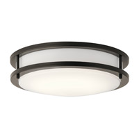 Kichler 10784OZLED Signature LED 12 inch Olde Bronze Flush Mount Ceiling Light