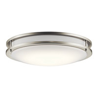 Kichler 10786NILED Signature LED 18 inch Brushed Nickel Flush Mount Ceiling Light