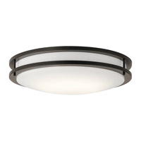 Kichler 10786OZLED Signature LED 18 inch Olde Bronze Flush Mount Ceiling Light