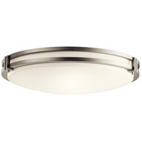 Kichler 10788NILED Avon LED 24 inch Brushed Nickel Flush Mount Ceiling Light