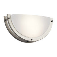 Kichler 10790NILED Signature LED 12 inch Brushed Nickel Wall Sconce Wall Light in 11.75in