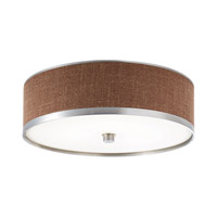 Kichler Lighting Pira 1 Light Fluorescent Flush Mount in Brushed Aluminum 10803BAW