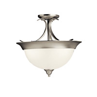 Kichler Lighting Signature 1 Light Fluorescent Semi Flush in Brushed Nickel 10823NI