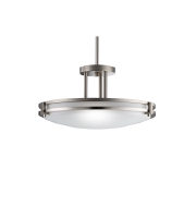 Kichler Lighting Signature 2 Light Fluorescent Flush Mount in Brushed Nickel 10827NI alternative photo thumbnail