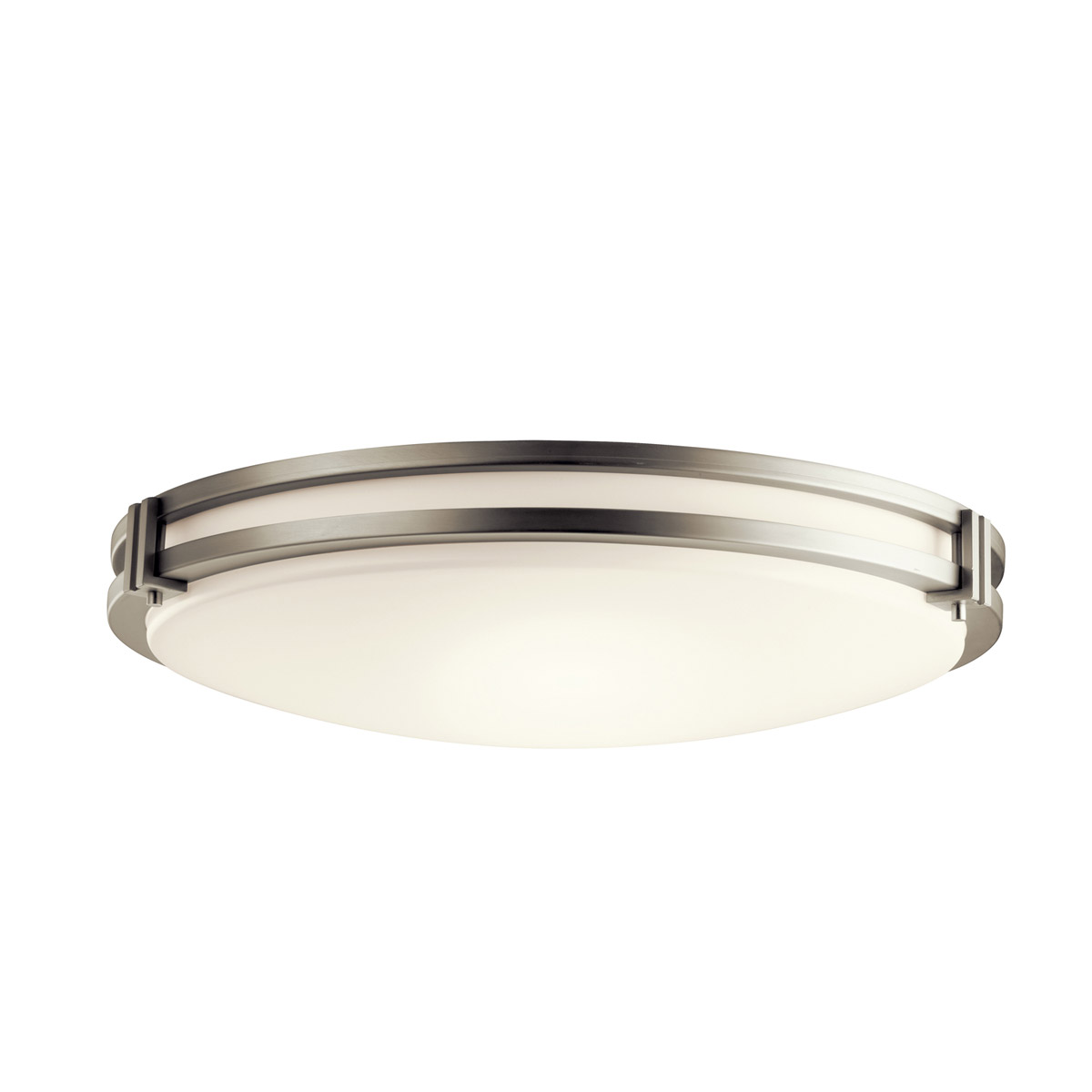 Kichler Lighting Signature 3 Light Fluorescent Flush Mount in Brushed Nickel 10828NI photo thumbnail