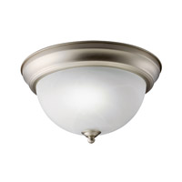 Kichler Lighting Signature 1 Light Fluorescent Flush Mount in Brushed Nickel 10835NI