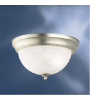 Kichler 10835NI Signature 1 Light 11 inch Brushed Nickel Flush Mount Ceiling Light alternative photo thumbnail