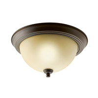Kichler Lighting Signature 1 Light Fluorescent Flush Mount in Olde Bronze 10835OZ photo thumbnail