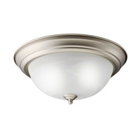 Kichler Lighting Signature 2 Light Fluorescent Flush Mount in Brushed Nickel 10836NI photo thumbnail