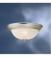 Kichler 10836NI Signature 2 Light 13 inch Brushed Nickel Flush Mount Ceiling Light alternative photo thumbnail