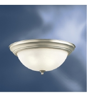 Kichler Lighting Signature 2 Light Fluorescent Flush Mount in Brushed Nickel 10837NI alternative photo thumbnail