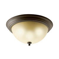 Kichler Lighting Signature 2 Light Fluorescent Flush Mount in Olde Bronze 10837OZ photo thumbnail