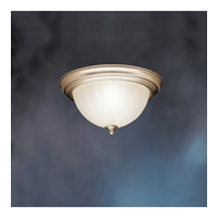 Kichler Lighting Signature 2 Light Fluorescent Flush Mount in Brushed Nickel 10864NI photo thumbnail