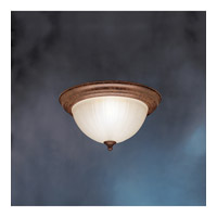 Kichler Lighting Signature 2 Light Fluorescent Flush Mount in Tannery Bronze 10864TZ photo thumbnail