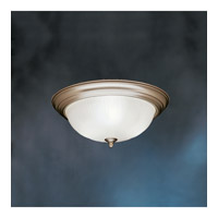 Kichler Lighting Signature 3 Light Fluorescent Flush Mount in Brushed Nickel 10865NI photo thumbnail