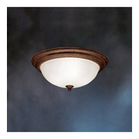Signature 3 Light 15 inch Tannery Bronze Flush Mount Ceiling Light