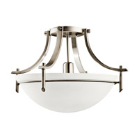 Kichler Lighting Olympia 1 Light Fluorescent Semi Flush in Antique Pewter 10878AP photo thumbnail