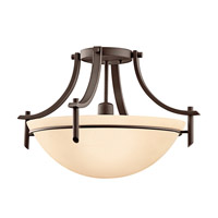 Kichler Lighting Olympia 1 Light Fluorescent Semi Flush in Olde Bronze 10878OZ photo thumbnail