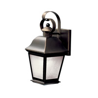 Kichler 10907OZ Mount Vernon 1 Light 13 inch Olde Bronze Fluorescent Outdoor Wall Lantern