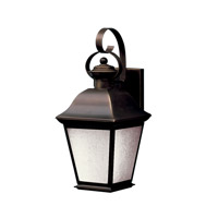 Kichler 10908OZ Mount Vernon 1 Light 17 inch Olde Bronze Fluorescent Outdoor Wall Lantern