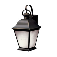 Kichler 10909OZ Mount Vernon 1 Light 20 inch Olde Bronze Fluorescent Outdoor Wall Lantern photo thumbnail