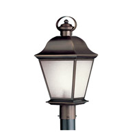 Kichler 10911OZ Mount Vernon 1 Light 21 inch Olde Bronze Fluorescent Outdoor Post