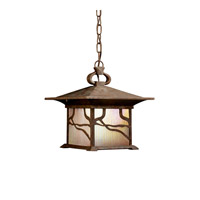 Kichler Lighting Morris 1 Light Fluorescent Outdoor Ceiling in Distressed Copper 10921DCO