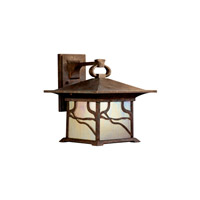 Kichler Lighting Morris 1 Light Fluorescent Outdoor Wall Lantern in Distressed Copper 10930DCO photo thumbnail