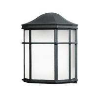 Kichler 10941BK Signature 1 Light 10 inch Black Fluorescent Outdoor Wall Lantern