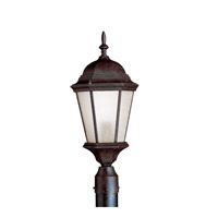 Madison 1 Light 23 inch Tannery Bronze Fluorescent Outdoor Post