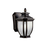 Kichler 11001RZ Salisbury 1 Light 10 inch Rubbed Bronze Fluorescent Outdoor Wall Lantern