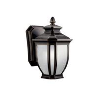Kichler 11001RZ Salisbury 1 Light 10 inch Rubbed Bronze Fluorescent Outdoor Wall Lantern