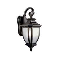 Kichler 11002RZ Salisbury 1 Light 19 inch Rubbed Bronze Fluorescent Outdoor Wall Lantern