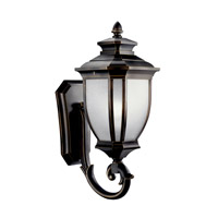 Kichler Lighting Salisbury 1 Light Fluorescent Outdoor Wall Lantern in Rubbed Bronze 11004RZ photo thumbnail