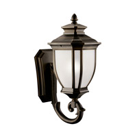 Kichler Lighting Salisbury 1 Light Fluorescent Outdoor Wall Lantern in Rubbed Bronze 11005RZ