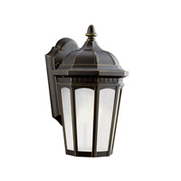 Kichler 11010RZ Courtyard 1 Light 11 inch Rubbed Bronze Fluorescent Outdoor Wall Lantern