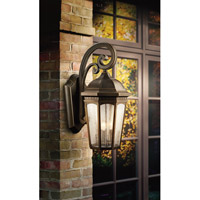 Kichler 9034RZ Courtyard 3 Light 22 inch Rubbed Bronze Outdoor Wall Lantern alternative photo thumbnail