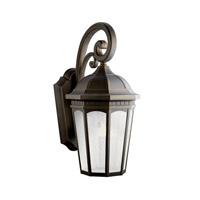 Kichler 11013RZ Courtyard 1 Light 27 inch Rubbed Bronze Fluorescent Outdoor Wall Lantern