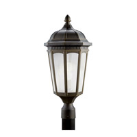 Kichler 11014RZ Courtyard 1 Light 24 inch Rubbed Bronze Fluorescent Outdoor Post