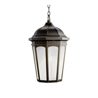 Kichler Lighting Courtyard 1 Light Fluorescent Outdoor Ceiling in Rubbed Bronze 11016RZ