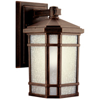 Kichler 11017PR Cameron 1 Light 11 inch Prairie Rock Fluorescent Outdoor Wall Lantern