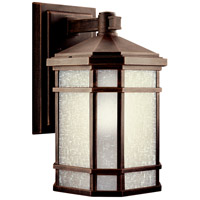 Kichler 11018PR Cameron 1 Light 14 inch Prairie Rock Fluorescent Outdoor Wall Lantern photo thumbnail