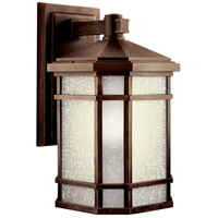 Kichler 11019PR Cameron 1 Light 17 inch Prairie Rock Fluorescent Outdoor Wall Lantern