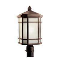 Cameron 1 Light 20 inch Prairie Rock Fluorescent Outdoor Post