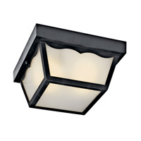 Kichler Lighting Signature 1 Light Fluorescent Outdoor Ceiling in Black 11026BK photo thumbnail